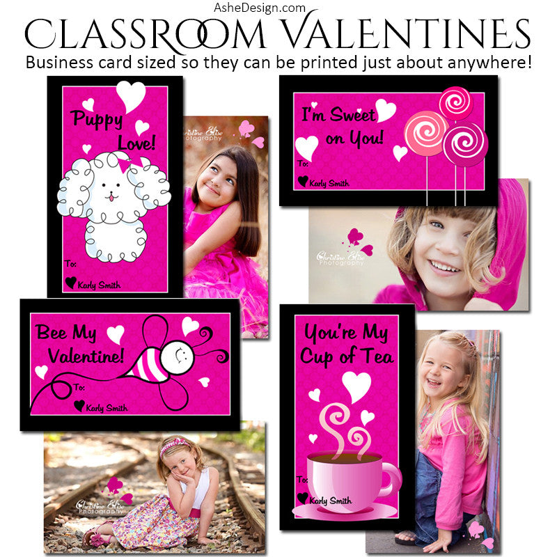 Ashe Design | Classroom Valentines | Think Pink