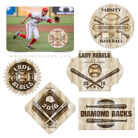 Ashe Design | Photoshop Templates | Customizable Word Art | Branded Baseball-Softball