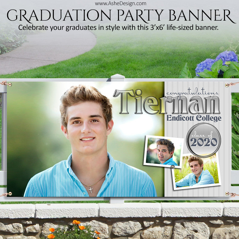 Ashe Design | Photoshop Template | Grad Party Photo Banner | 3'x6' Horizontal | Hot Shots