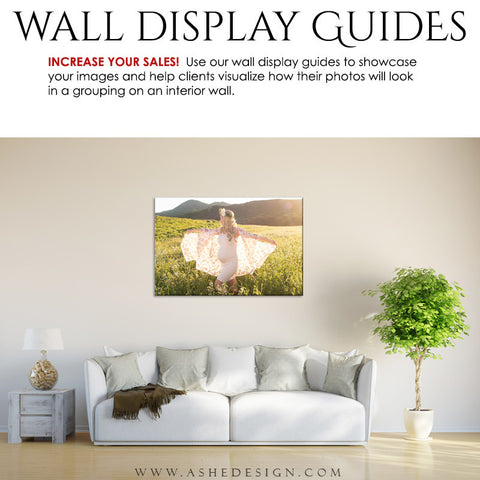 Ashe Design | Photography Wall Display Guide | 1 Image | Photoshop Template