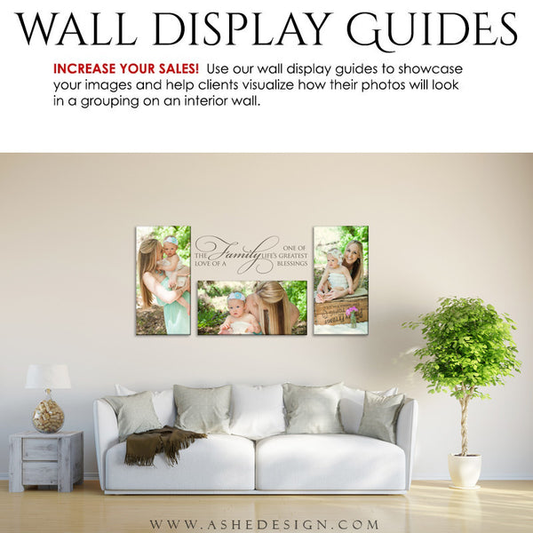 Ashe Design | Photography Wall Display Guide | 3 Images | Photoshop Template