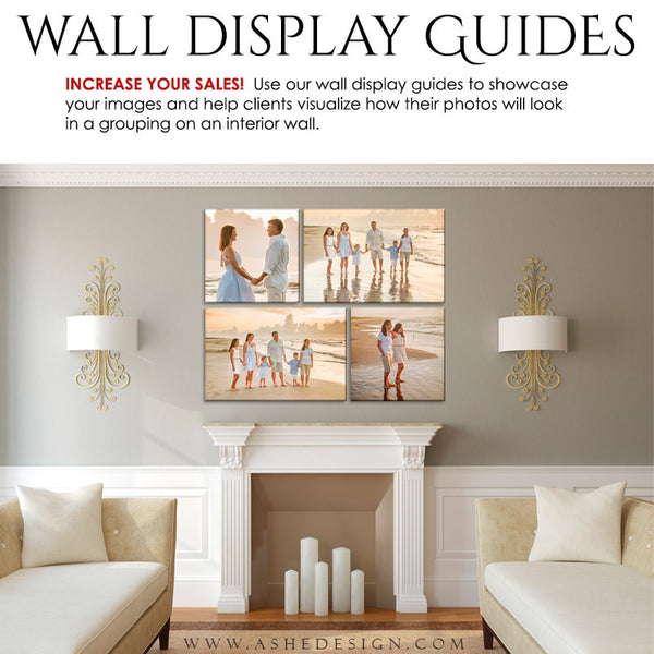 Ashe Design | Photography Wall Display Guides | 4 Images | Photoshop Templates