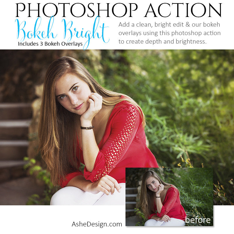 Photoshop Action - Overlays | Bokeh Bright 1