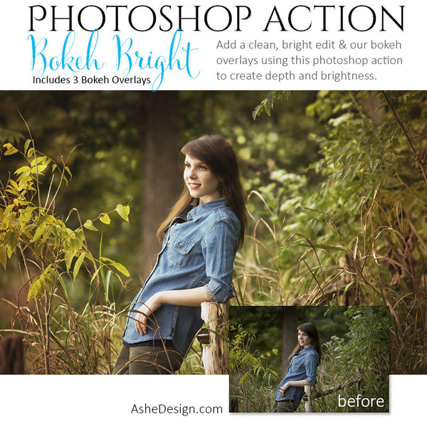 Photoshop Action - Overlays | Bokeh Bright 2
