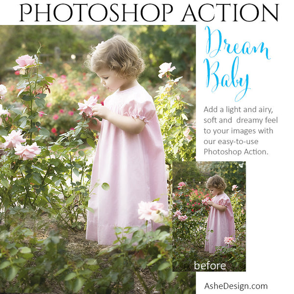 Ashe Design | Photoshop Action | Pure Palette - Dream Baby