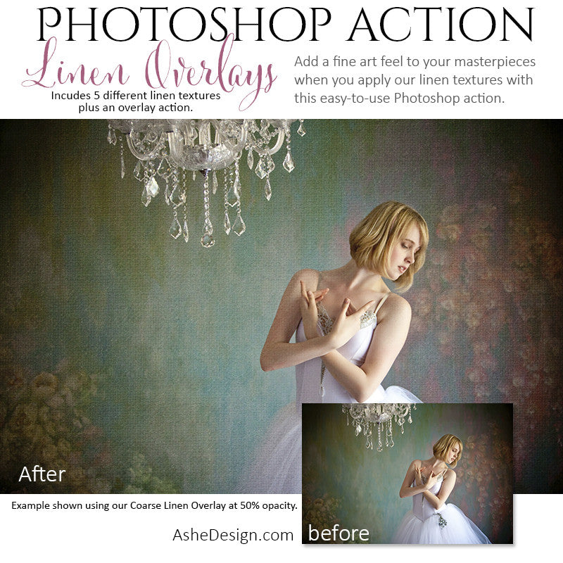 Photoshop Action | Texture Overlays - Linen1