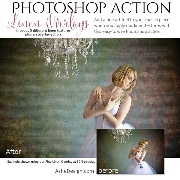 Photoshop Action | Texture Overlays - Linen2