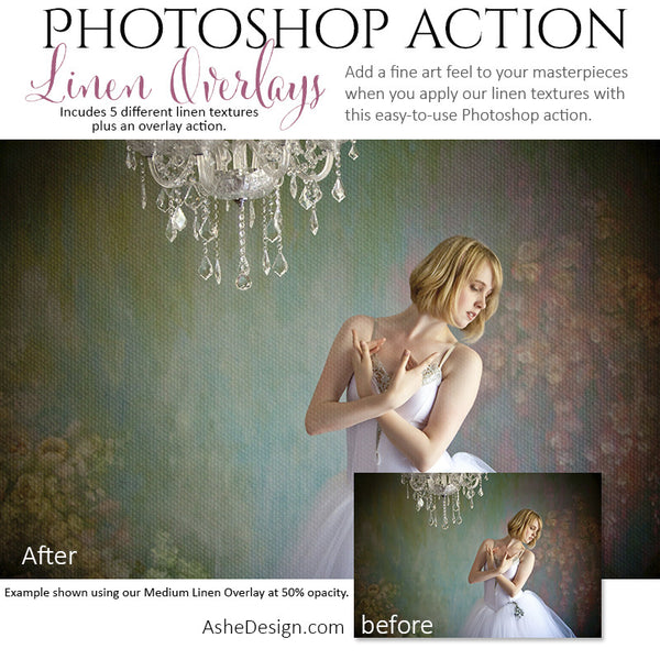 Photoshop Action | Texture Overlays - Linen3