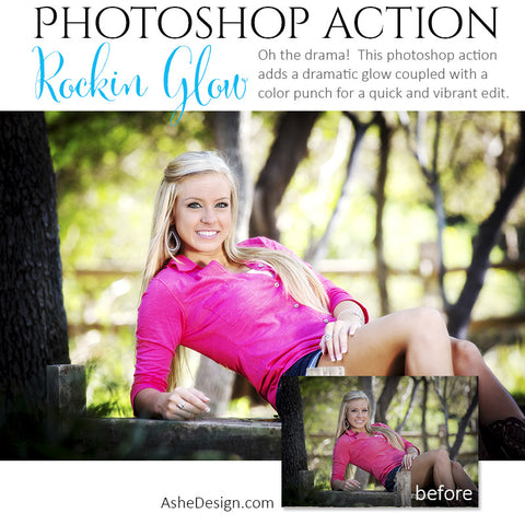 Photoshop Action | Color - Rockin' Glow example1