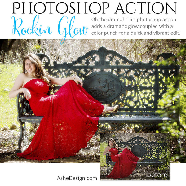 Photoshop Action | Color - Rockin' Glow example2