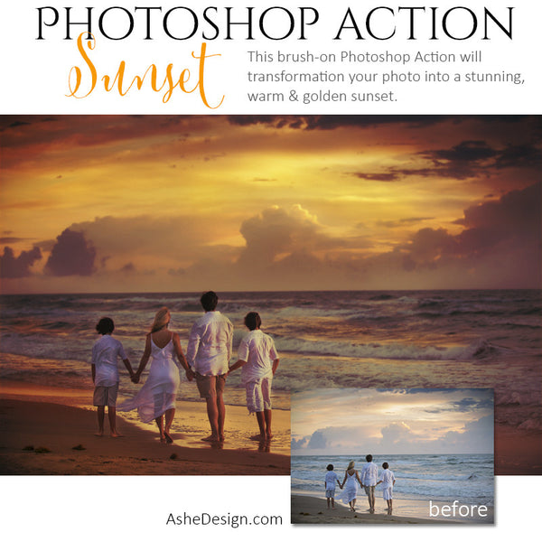 Photoshop Action | Pure Palette - Sunset1