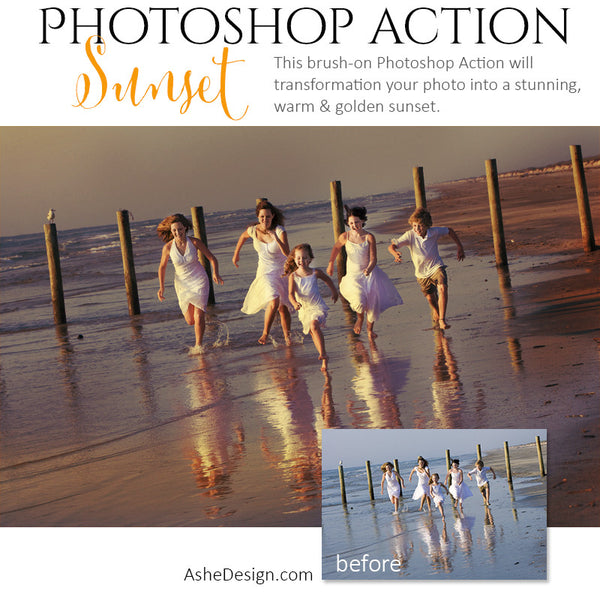Photoshop Action | Pure Palette - Sunset3