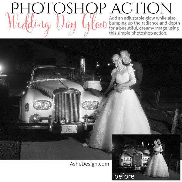 Ashe Design | Photoshop Action | Wedding Day Glow2