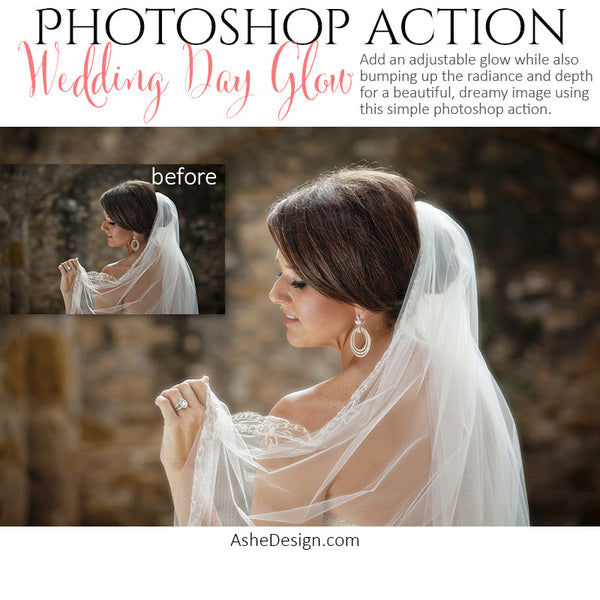Ashe Design | Photoshop Action | Wedding Day Glow3