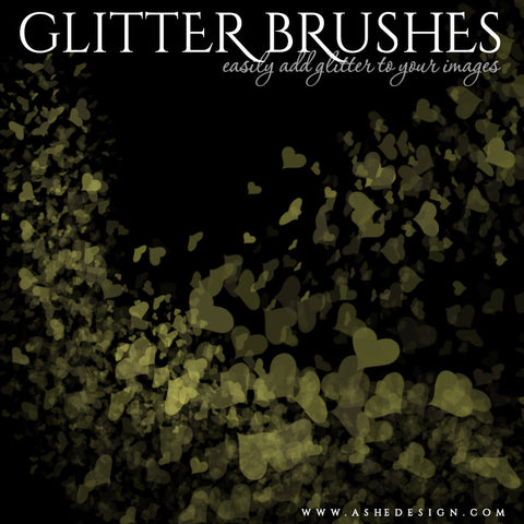 Designer Gems Photoshop Brush Set | Heart Glitter