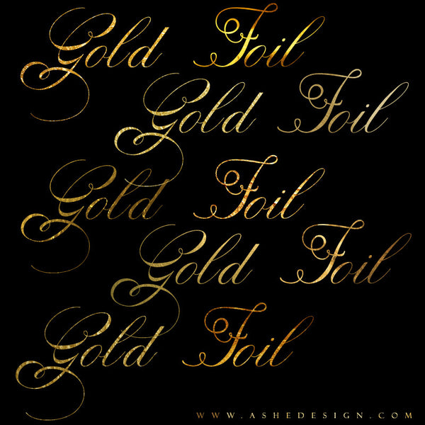 Ashe Design | Photoshop Layer Styles | Gold Foil