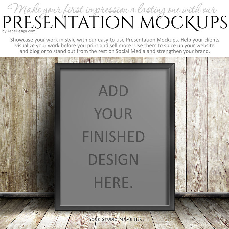 Ashe Design | Presentation Mockup - Light Wood