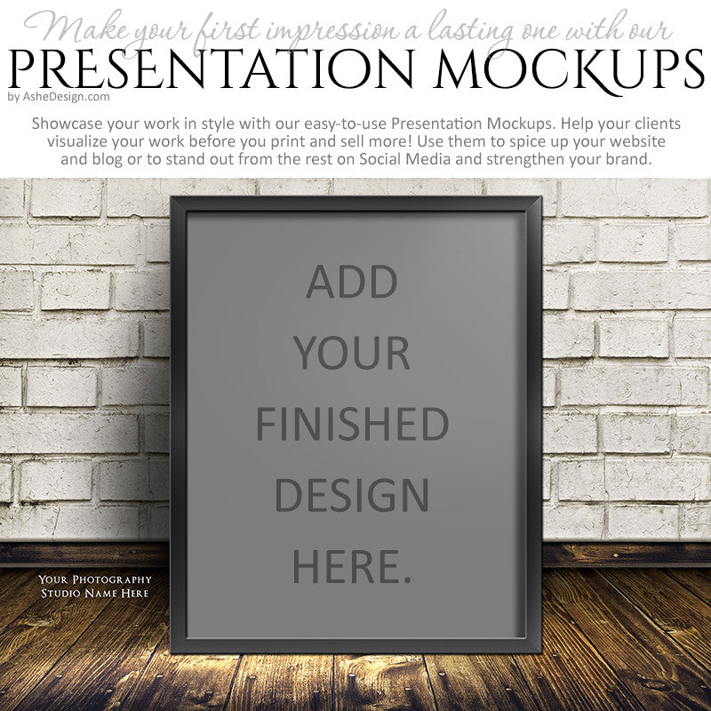 Ashe Design | Presentation Mockup - White Bricks