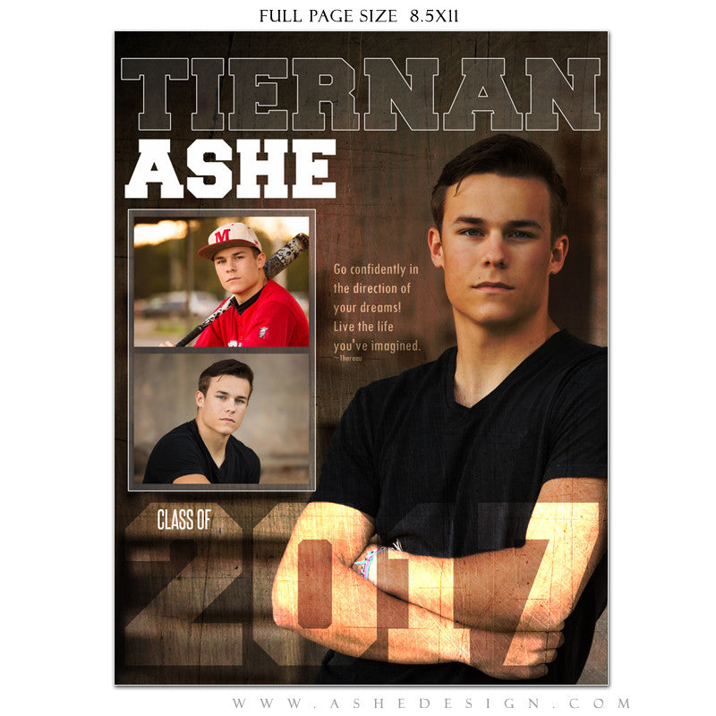 Ashe Design | Yearbook Ad | Full Page | Seniors