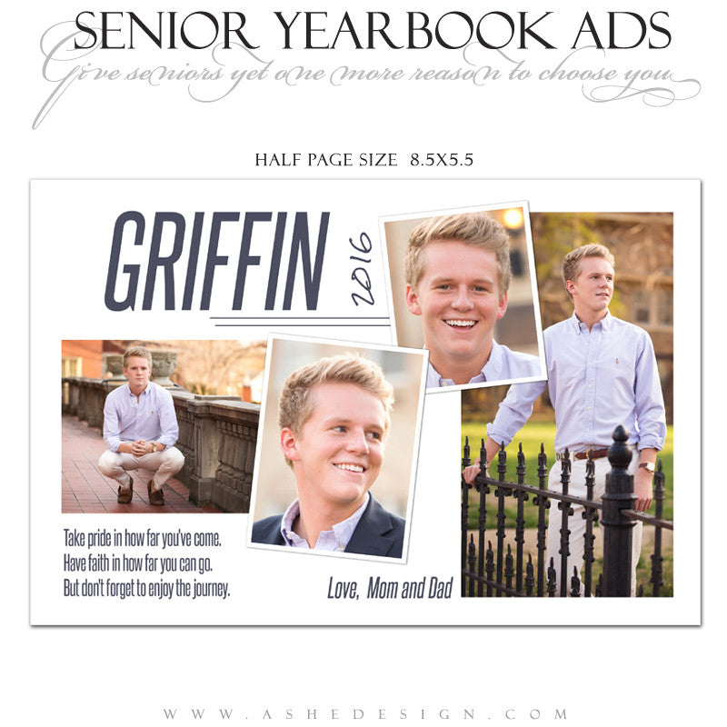 Ashe Design | Senior Yearbook Ad | Photoshop Templates | The Journey ...