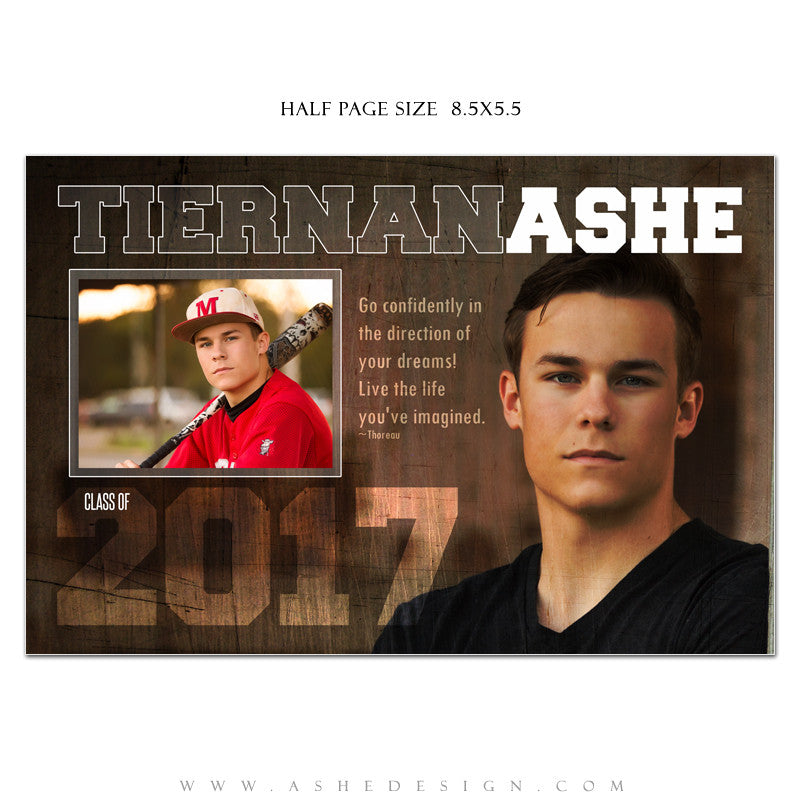 Ashe Design | Senior Yearbook Ad | Photoshop Templates | Game Maker ...