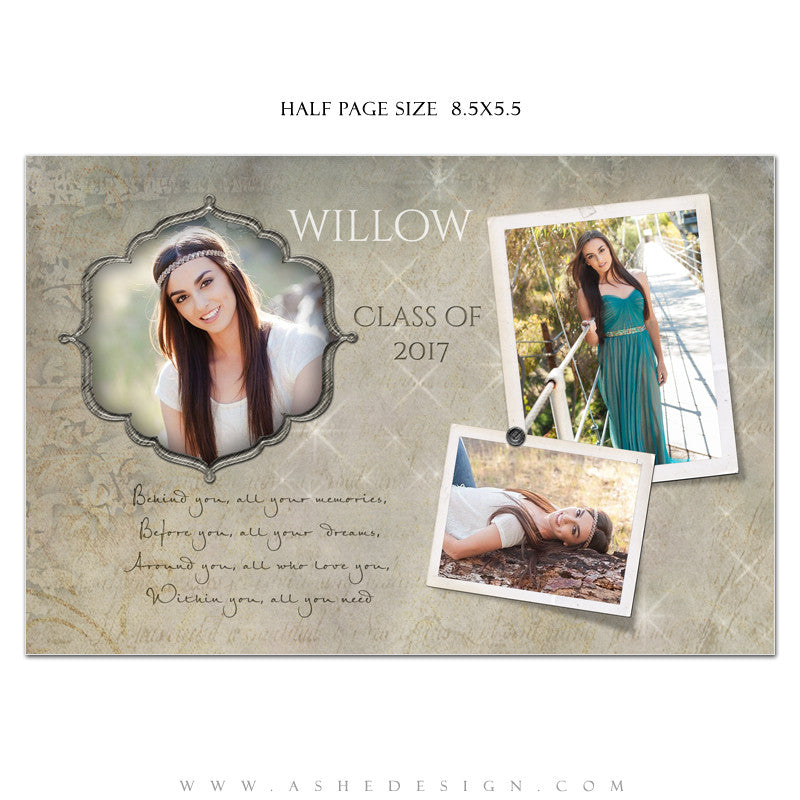 Ashe Design | Senior Yearbook Ad | Photoshop Templates | All You ...