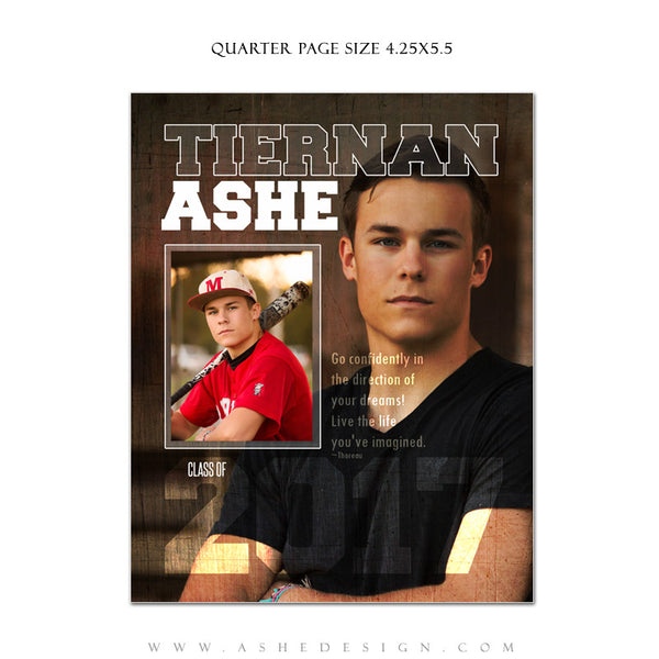 Ashe Design | Yearbook Ad | Quarter Page | Seniors