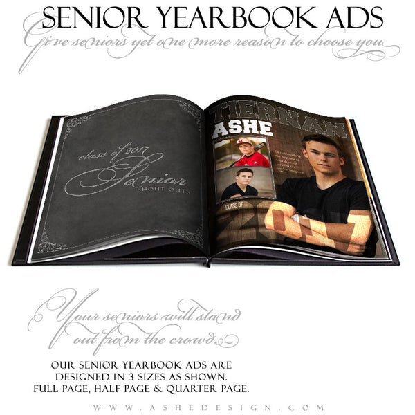 Ashe Design | Yearbook Ad | Seniors