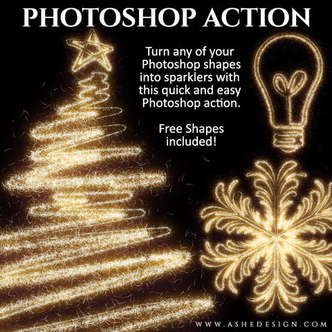Photoshop Action | Shape Sparkler