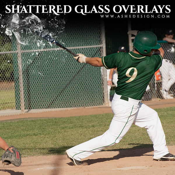 Ashe Design | Designer Gems | Shattered Glass baseball
