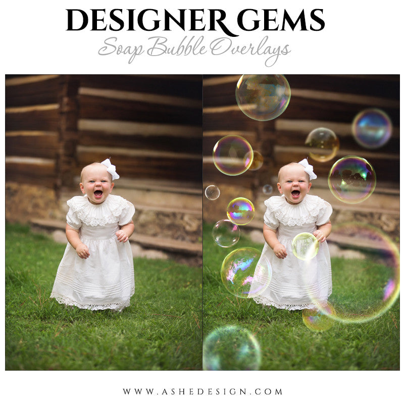 Photoshop Designer Gems Overlays | Soap Bubbles