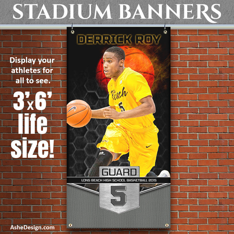 Amped Stadium Banner 3'x6' | Great Balls Of Fire Basketball