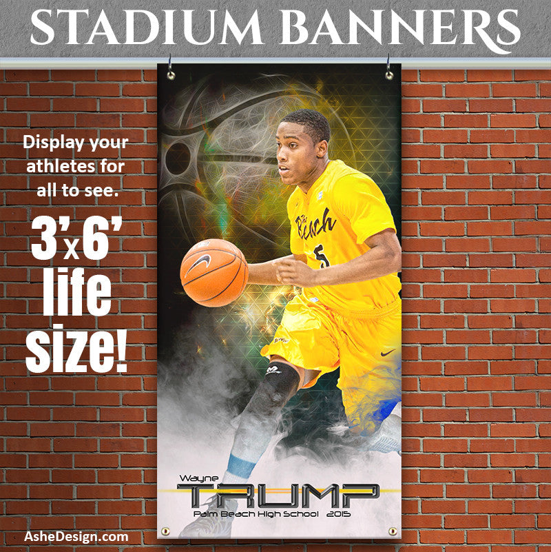 Amped Stadium Banner 3'x6' | Winning Streak Basketball