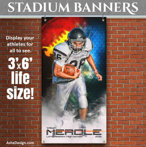 Amped Stadium Banner 3'x6' | Winning Streak Football