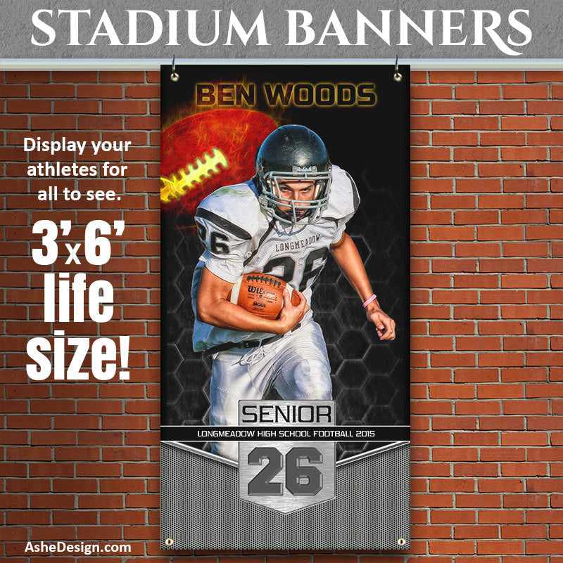 Amped Stadium Banner 3'x6' | Great Balls Of Fire Football