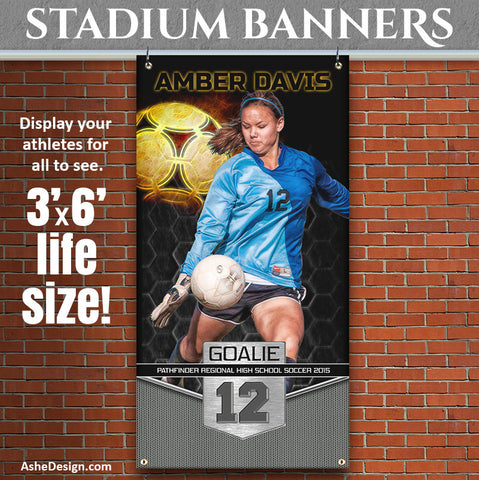 Amped Stadium Banner 3'x6' | Great Balls Of Fire Soccer
