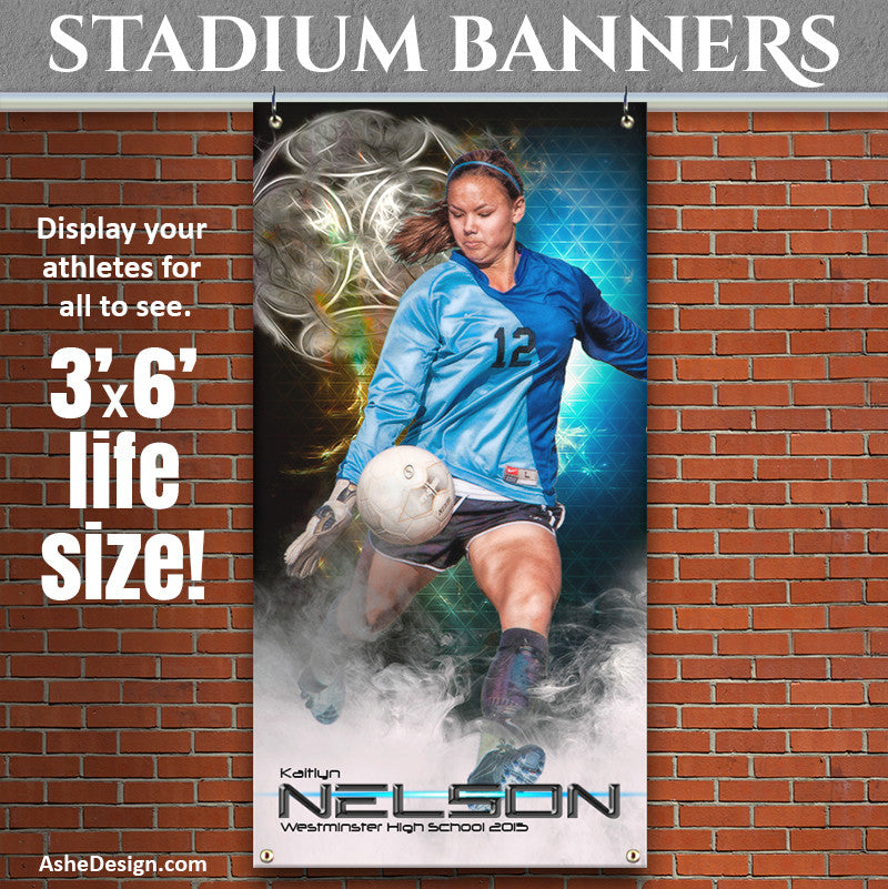 Amped Stadium Banner 3'x6' | Winning Streak Soccer