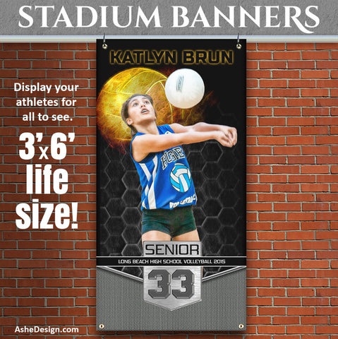 Amped Stadium Banner 3'x6' | Great Balls Of Fire Volleyball