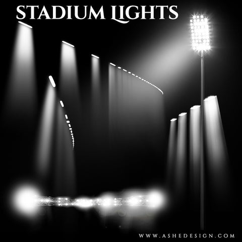 Ashe Design | Photoshop Templates | Designer Gems | Stadium Lights