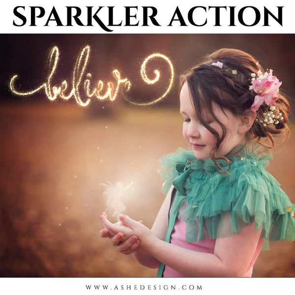 Photoshop Action | Text Sparkler