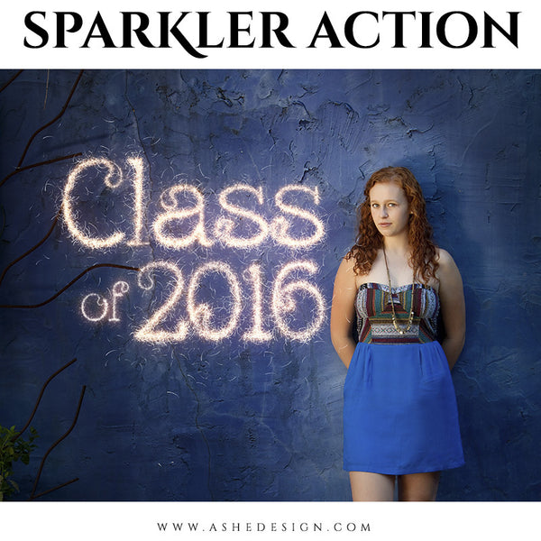 Photoshop Action | Text Sparkler seniors