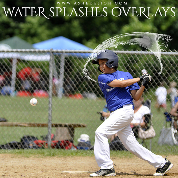 Ashe Design | Designer Gems | Water Splashes 2 baseball