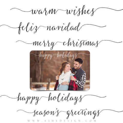Christmas Word Art Set | Warm Wishes