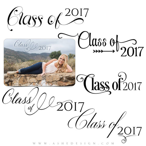 Ashe Design |  Word Art Overlays | Seniors | Class Act