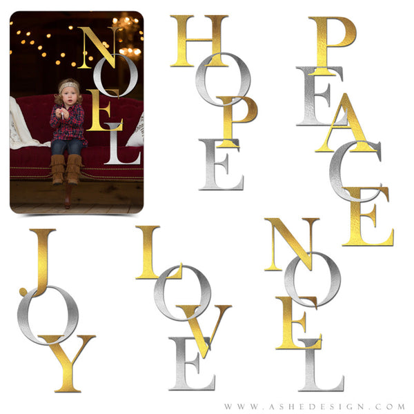 Amped Up Photoshop Word Art | Silver And Gold Holiday