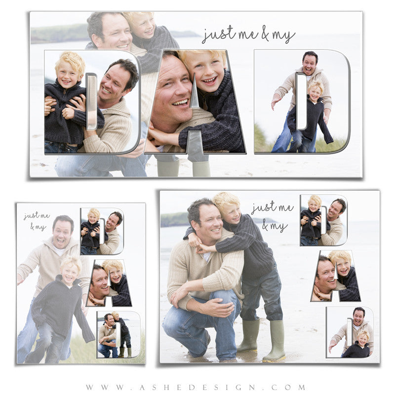 Ashe Design | Photoshop Templates | Word Collage Set | DAD