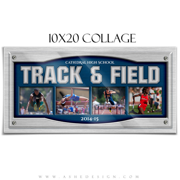 Sports Collage 10x20 | On Display track&field