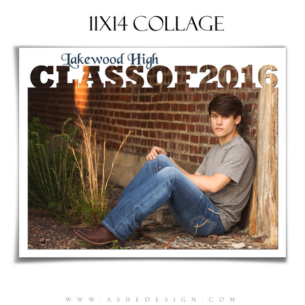 Ashe Design | 11x14 Photoshop Collage Template | Class of 2016
