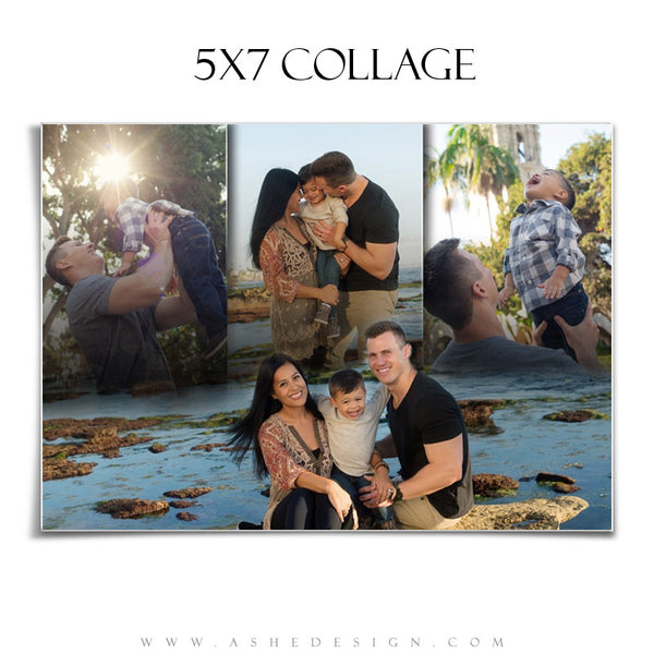Amped Family Collage 5x7 | Faded Triptych