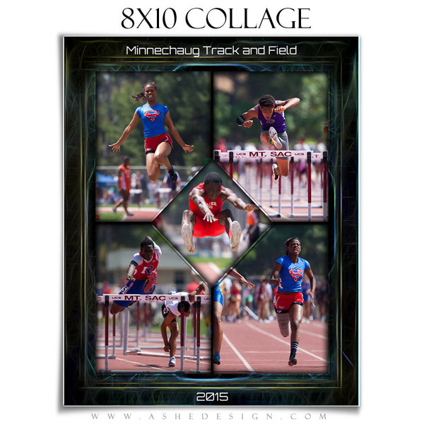 Sports Collage 8x10 | Neon Framed